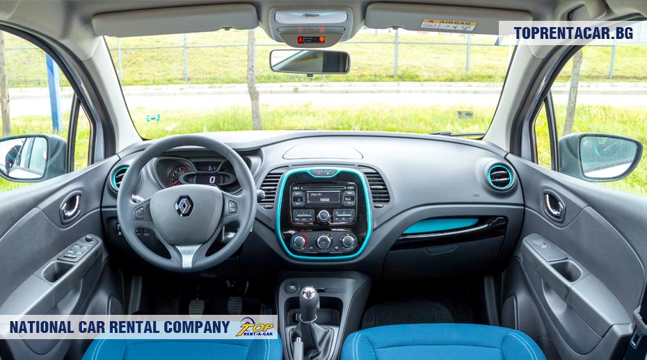 Renault Captur - vue de l'intérieur