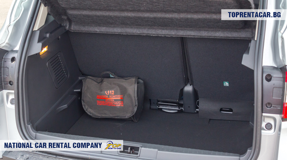 Renault Captur - vue du coffre