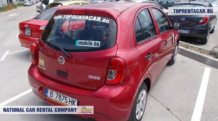 Nissan Micra - vue arrière