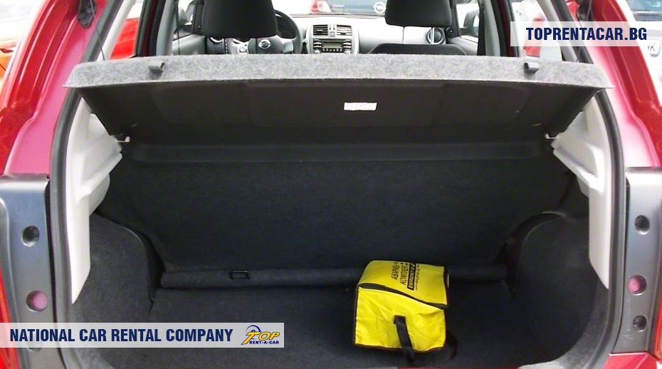 Nissan Micra - vue du coffre