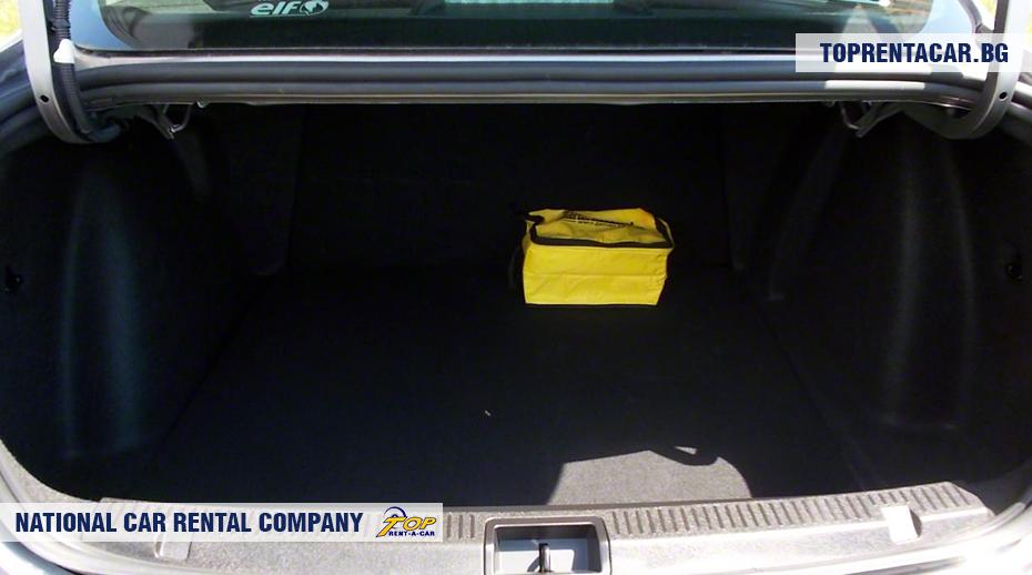 Renault Fluence - vue du coffre