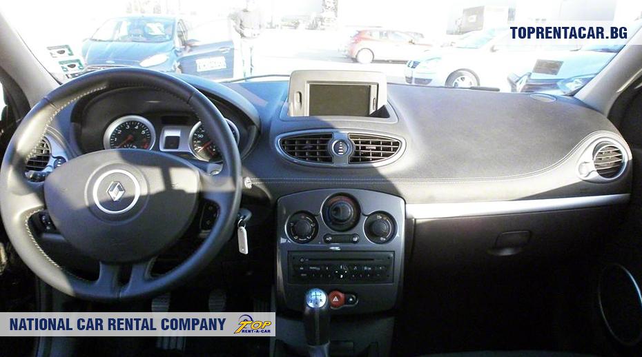 Renault Clio III - vue de l'intérieur