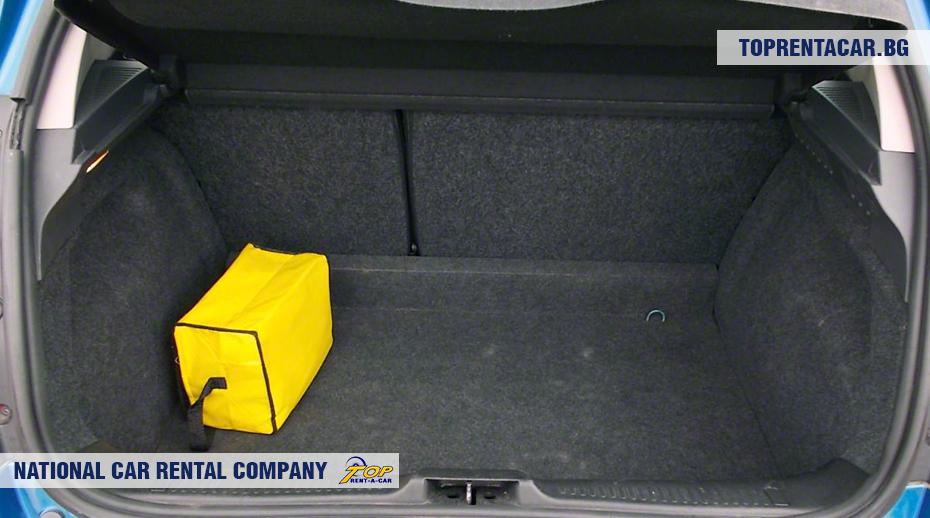 Renault Clio III - vue du coffre