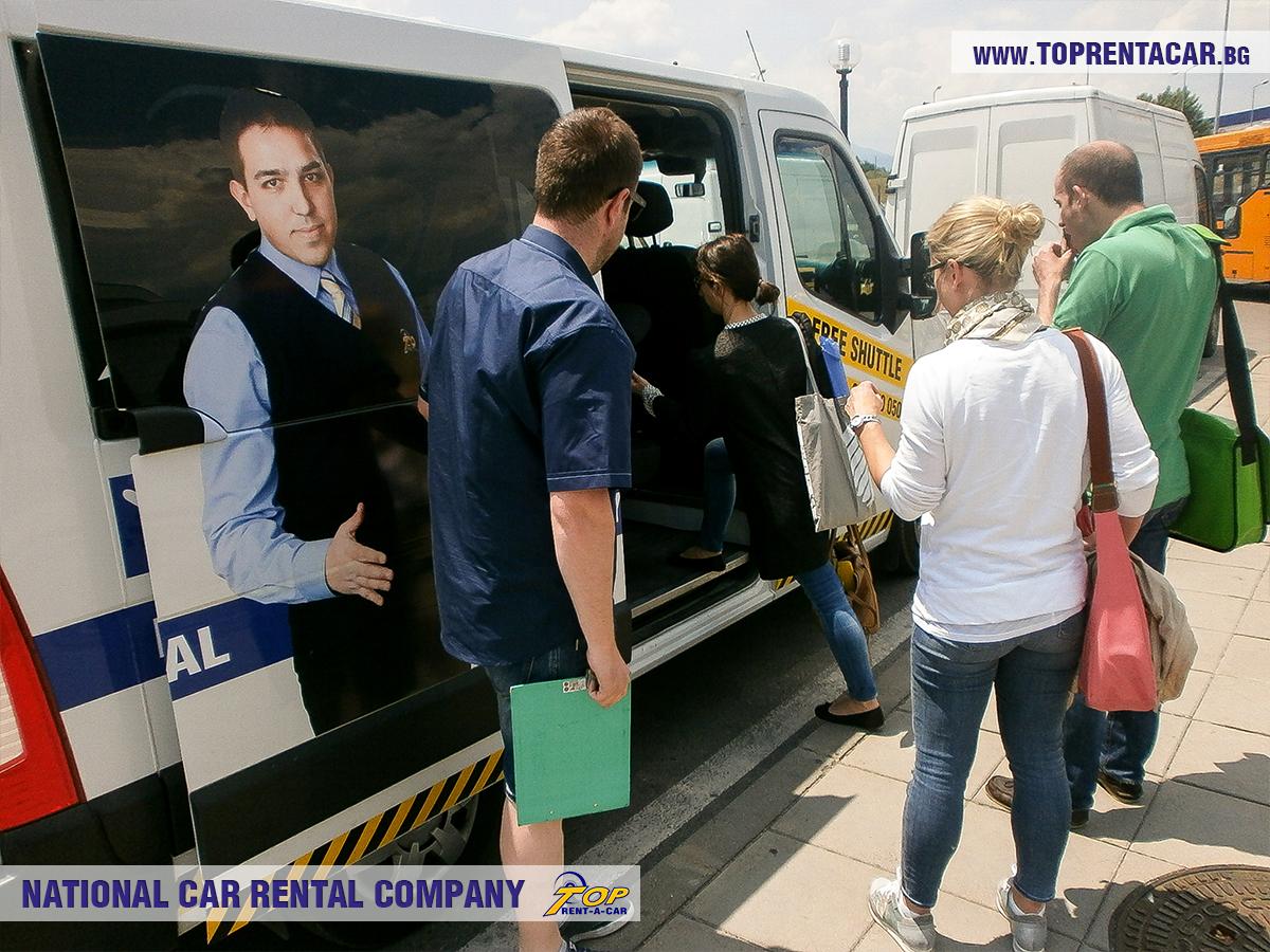 Bezpłatny transfer na lotnisko od Top Rent A Car