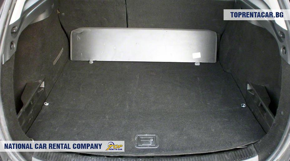 Renault Megane - vue du coffre