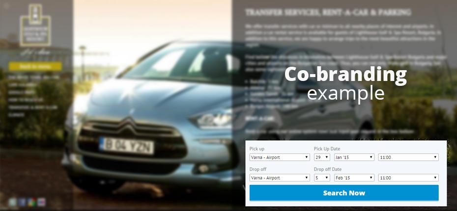 Page de résultats Co-branding
