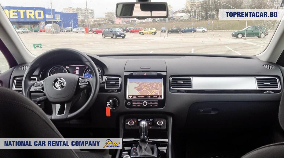 VW Touareg - vue de l'intérieur