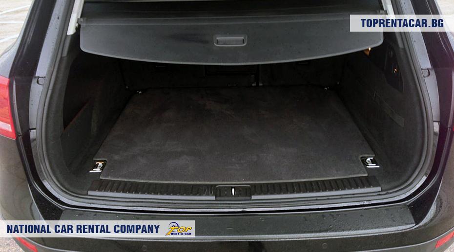 VW Touareg - vue du coffre