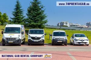 Louer des fourgonnettes cargo a Varna avec Top Rent A Car
