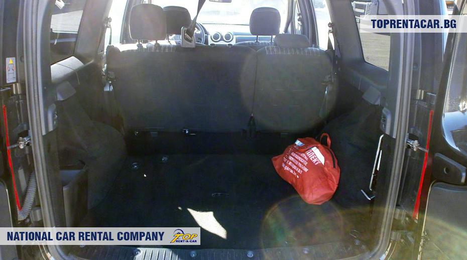 Dacia MCV - vue du coffre