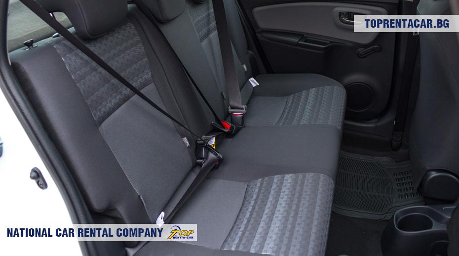 Toyota Yaris - vue sur les sièges arrière