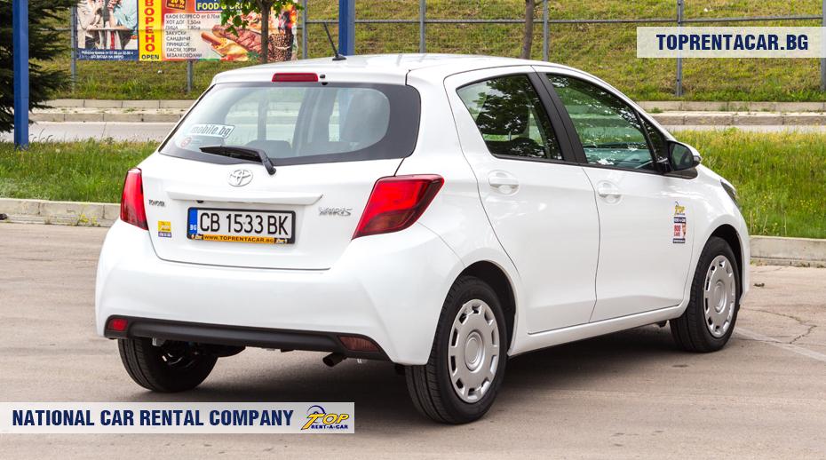 Toyota Yaris - vue arrière