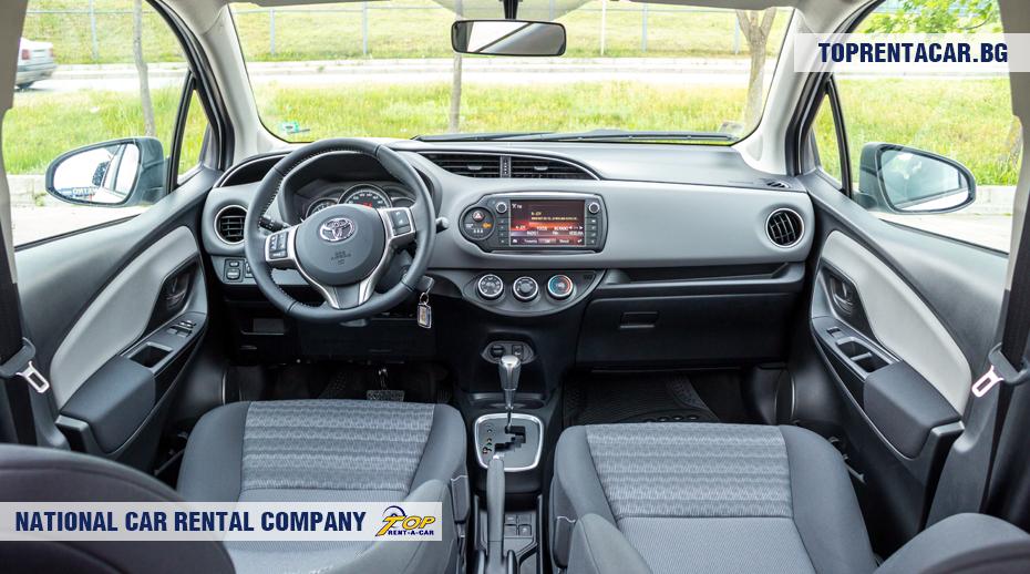 Toyota Yaris - vue de l'intérieur