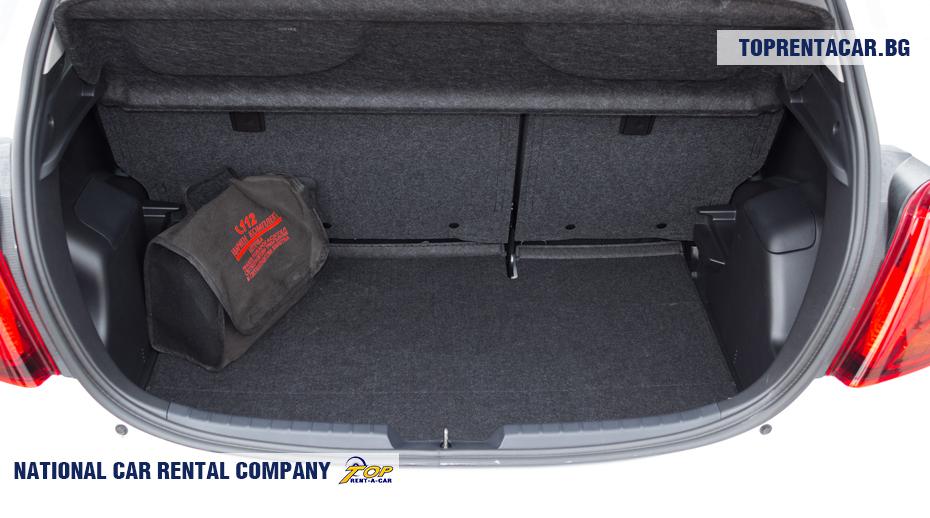 Toyota Yaris - vue du coffre