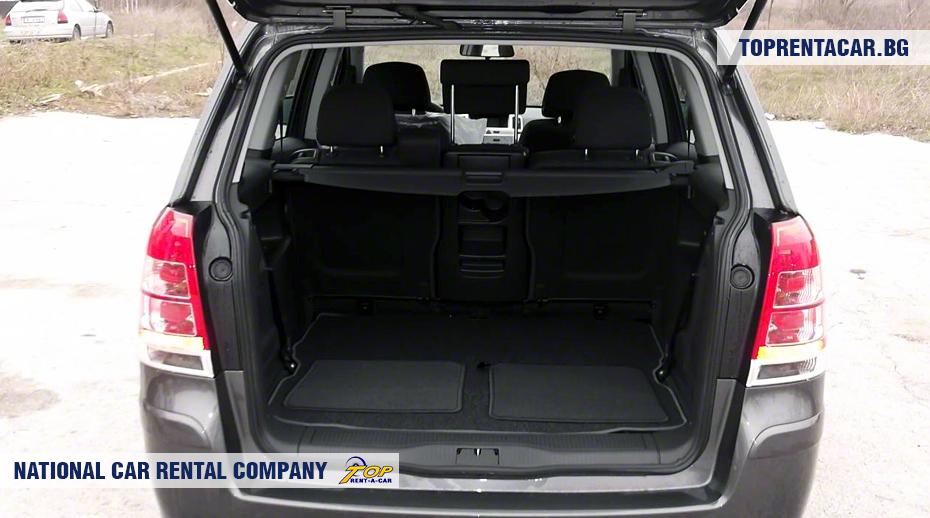 Opel Zafira - ansicht der kofferraum