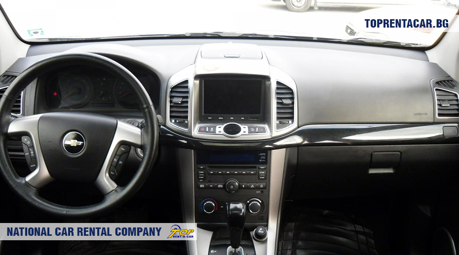 Chevrolet Captiva - vue de l'intérieur
