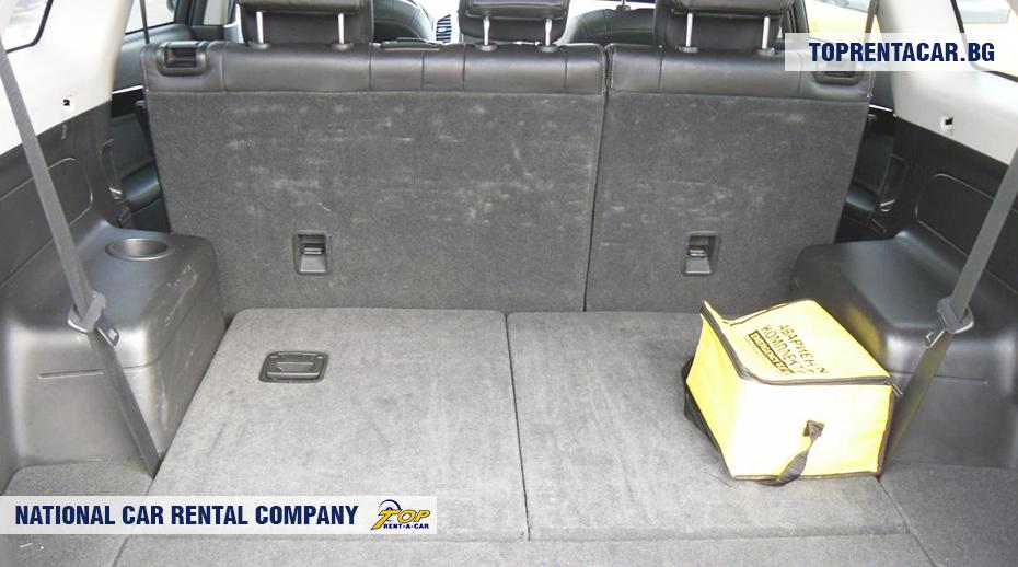 Chevrolet Captiva - vue du coffre