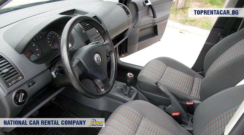 VW Polo - vue de l'intérieur