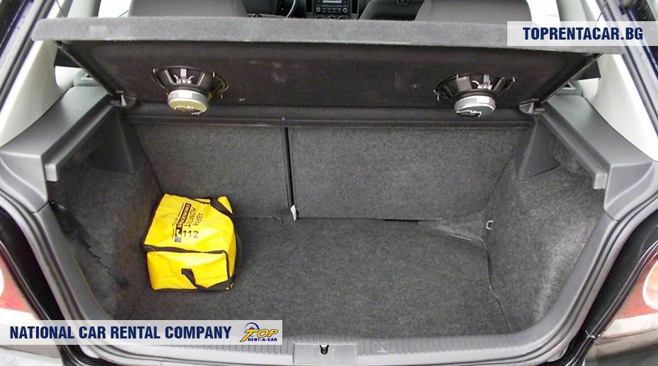 VW Polo - vue du coffre