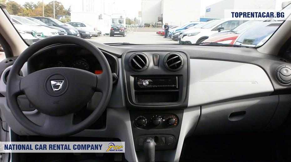 Dacia Sandero- vue de l'intérieur
