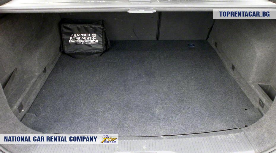 Opel Astra - vue du coffre